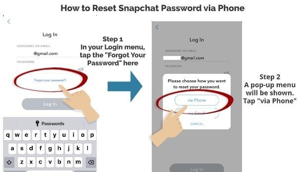 Snapchat Forgot Password Option